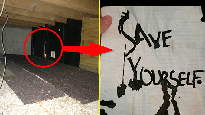 Man finds tapes and a note in creepy secret room - 10 Creepiest Secret Rooms Ever Discovered