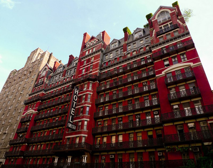 Hotel Chelsea is one of many haunted hotels throughout the United States