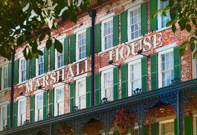 The Marshal Hotel is one of many haunted hotels throughout the United States
