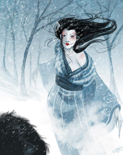 The Yuki-onna are one of many creepy ghosts and demons from Japanese folklore