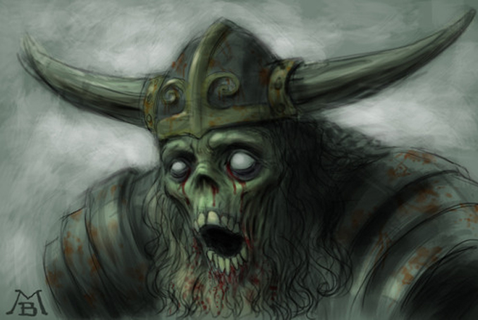 The Draugr is one of many Creepy Creatures from Scandinavian Folklore