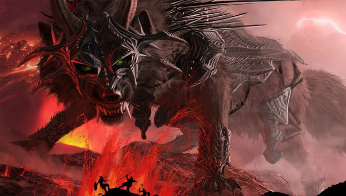 The Fenrir is one of many Creepy Creatures from Scandinavian Folklore