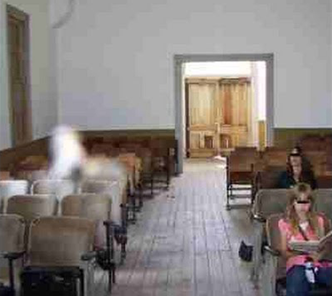 Ghost photographed in Bannack, Montana - 10 Creepy Church Ghost Sightings Caught on Camera