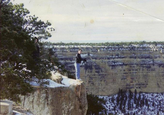 A hooded figure photographed at The Grand Canyon - 10 Scary Ghost Photos That No One Can Explain