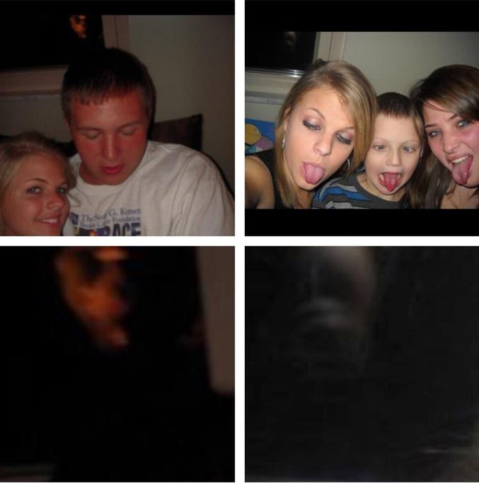 Scary faces photographed in window - 10 Scary Ghost Photos That No One Can Explain