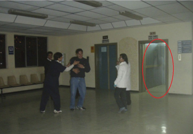 Doctor photographs a ghost in the elevator of a Bolivian hospital - These Hospital Ghost Sightings Have Patients and Staff Worried