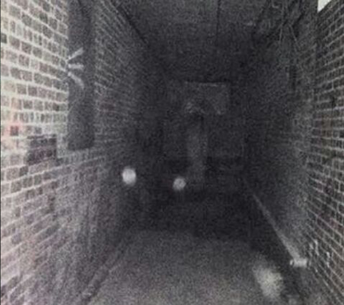Light adjusted photo of a ghost at Peoria State Hospital in Bartonville, Illinois - These Hospital Ghost Sightings Have Patients and Staff Worried