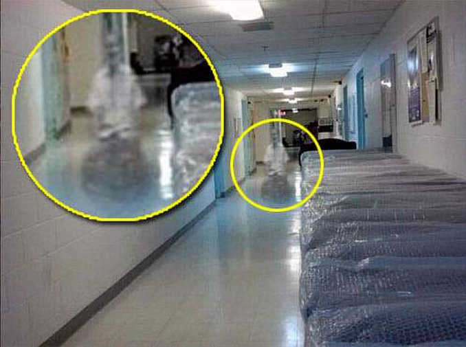 A ghost photographed in a wheelchair at the Kith Haven Assisted Living nursing home in Flint, Michigan - These Hospital Ghost Sightings Have Patients and Staff Worried