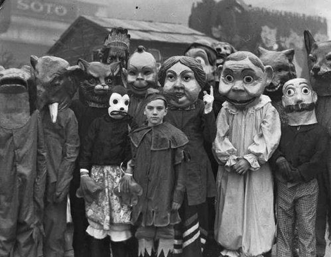 A group photo of people dressed in Halloween costumes - The Scariest Halloween Costumes of All Time