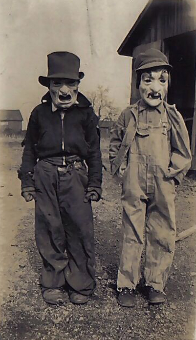 Two boys dressed in scary Halloween costumes - The Scariest Halloween Costumes of All Time