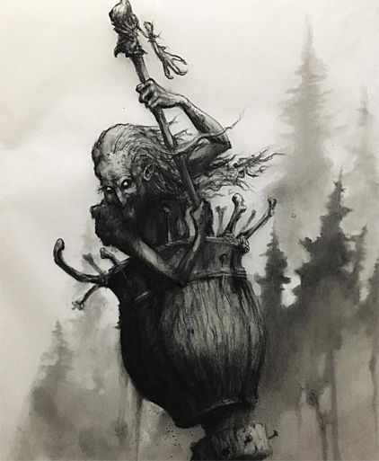 The Baba Yaga is one of many Creatures from Eastern European Folklore
