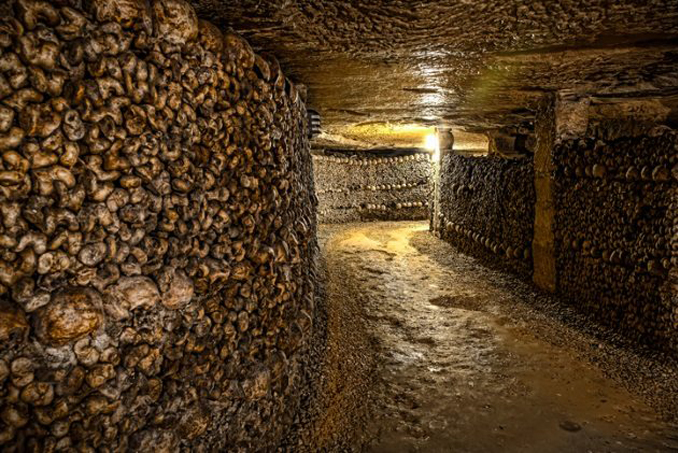 The Paris Catacombs is one of the Most Haunted Cemeteries Around the World