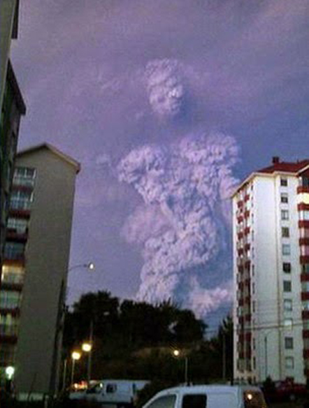 Giant monster rises from the ash of a smoking volcano - Monsters That Have Been Spotted in Real Life