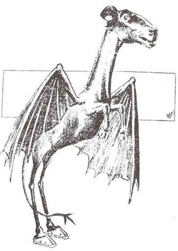 An early sketch of the Jersey Devil