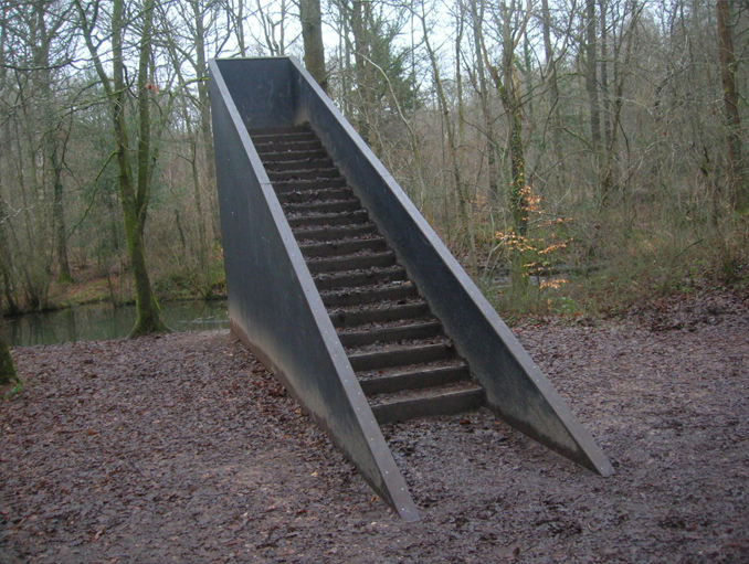 A staircase in the woods, no one can explain