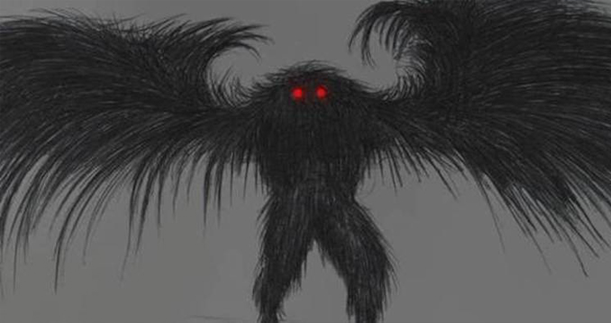 Drawing of the mothman