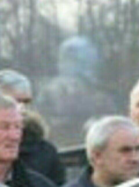 Close up of the ghost seen at the funeral of Jasmina Dominic in Croatia - Real Ghosts Caught on Camera