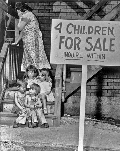 Famous photo of children for sale.