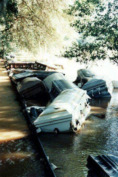 Photo caskets unearthed by cyclone in 1994 Georgia