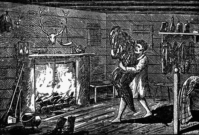 A sketch depiction of the Bell Witching haunting