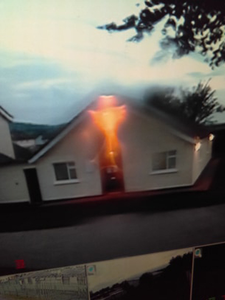 A weird photo sent in by a Slapped Ham viewer shows a strange light hovering near a house