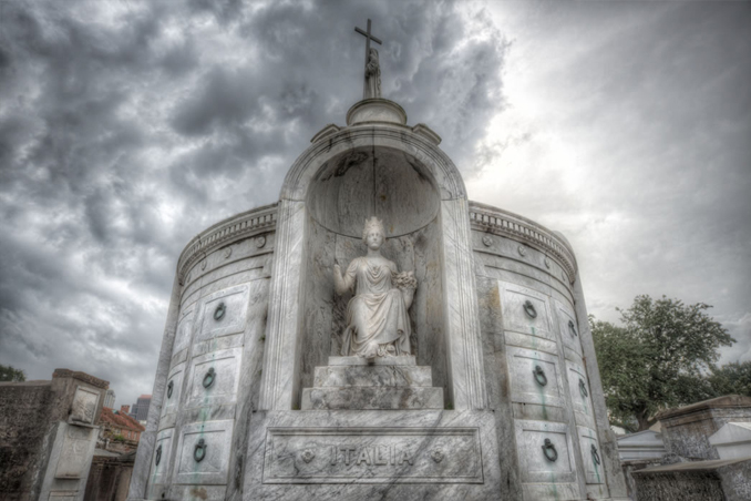 St Louis Cemetery, one of the most haunted places in Louisiana