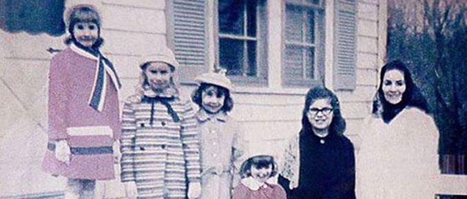 Old photo of the Perron Family. Allegedly the family contacted a demon during one of their infamous seances