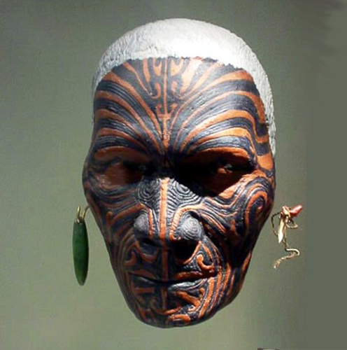 A maori warrior mask said to be cursed.