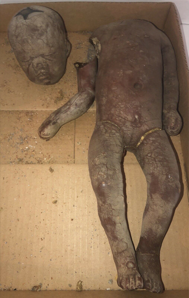 An alleged death mold of an infant.