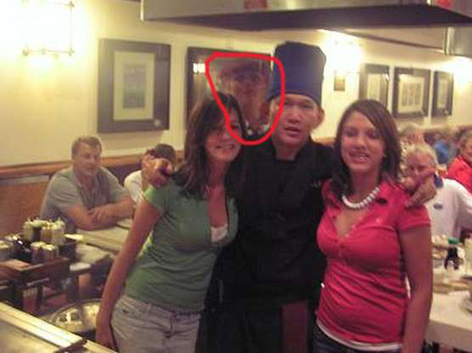 A photo in restaurant may show ghost in background.