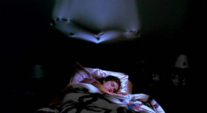 A still from Nightmare on Elm Street showing Nancy sleeping. A move that was based on real events.