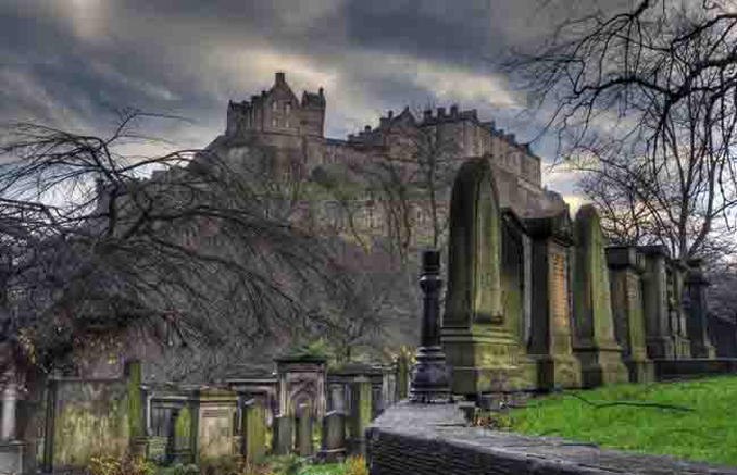 Photo of Edinburgh Scotland, one of the most haunted cities in the world.