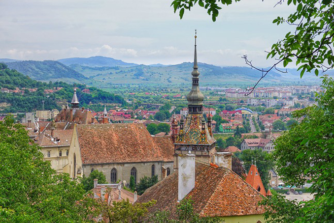 Country side of Sighisoara, Romania one of the most haunted cities in the world.