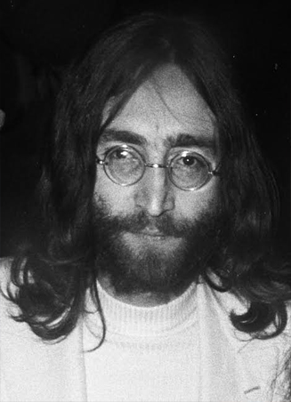 Black and White image of John Lennon
