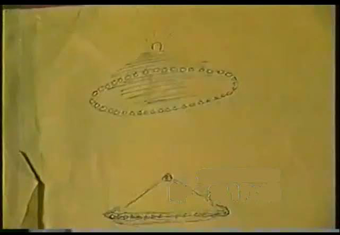 A sketch by John Lennon depicting his UFO sighting in New York.