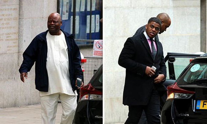 Ife family father and brother leaving court.