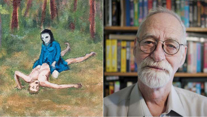 Man paints drawing of his scary alien abduction case