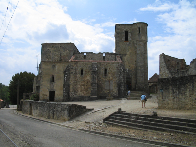 Oradour sur Glane, France one of the world's most haunted churches