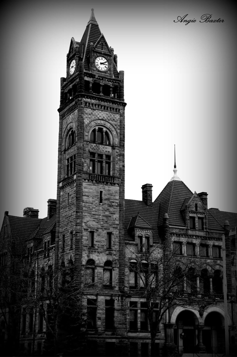 In 2014, Angie Baxter captured this ghost photo at Bay City Hall in Michigan.