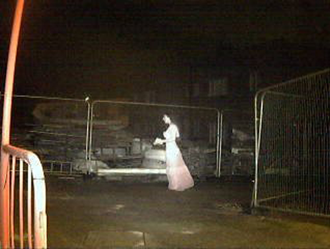 Scary ghost photo shows ghost at construction site.