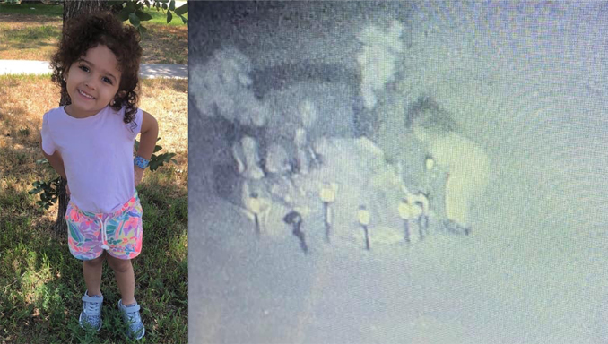 Scary ghost photo shows little girl at her own grave.