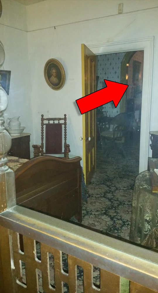 Ghost photo captured at the Whaley House in San Diego, California.