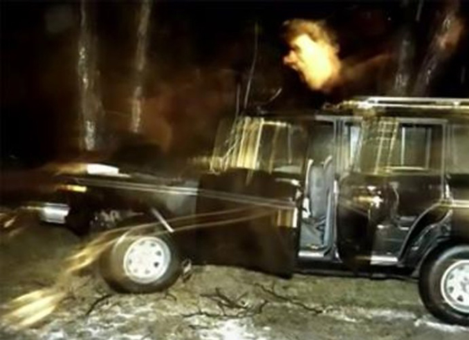 1984 car crash with screaming ghost face