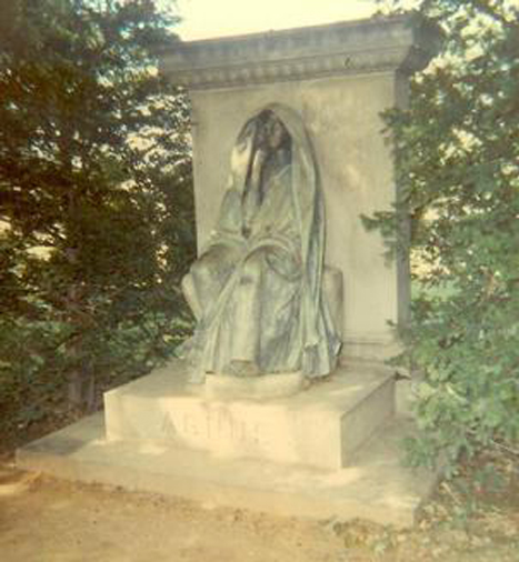 Black Aggie before statue was moved.