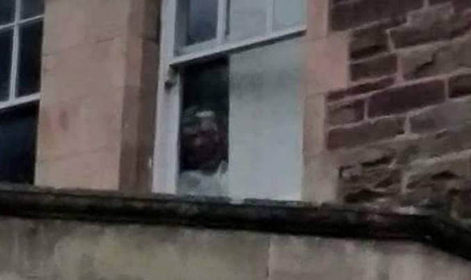 Creepy figure spotted in abandoned hospital